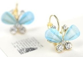 Hot Sale New Arrival Elegant Girls Butterfly Crystal Fashion Earrings E102 - Beads-N-Things