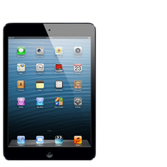 Apple iPad Mini in black.