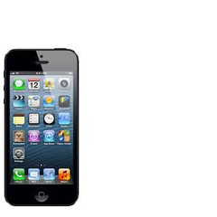 The Apple iPhone in black.