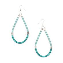 Load image into Gallery viewer, Awash Earrings in Seafoam and Silver