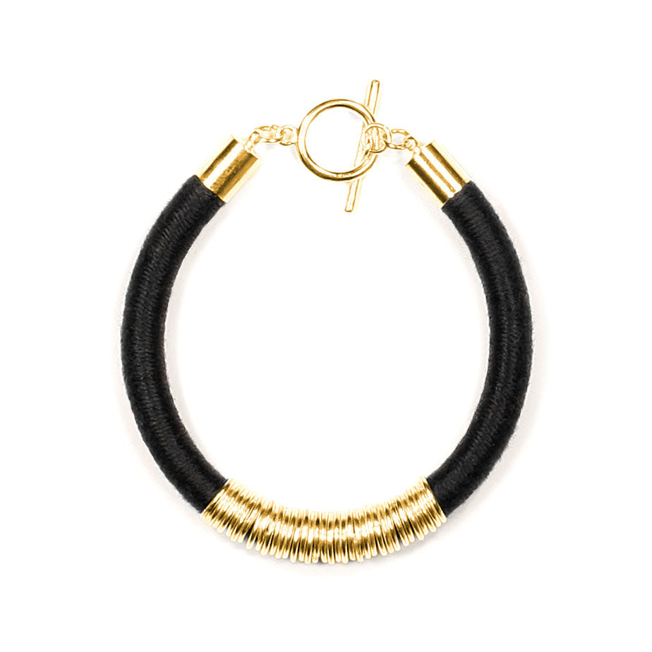 Mara Bracelet in Midnight and Gold