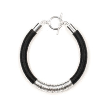 Load image into Gallery viewer, Mara Bracelet in Midnight and Silver