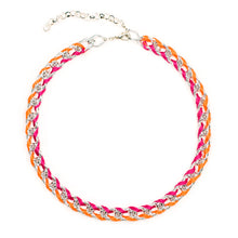 Load image into Gallery viewer, Rokel Necklace in Raspberry Tangerine and Silver