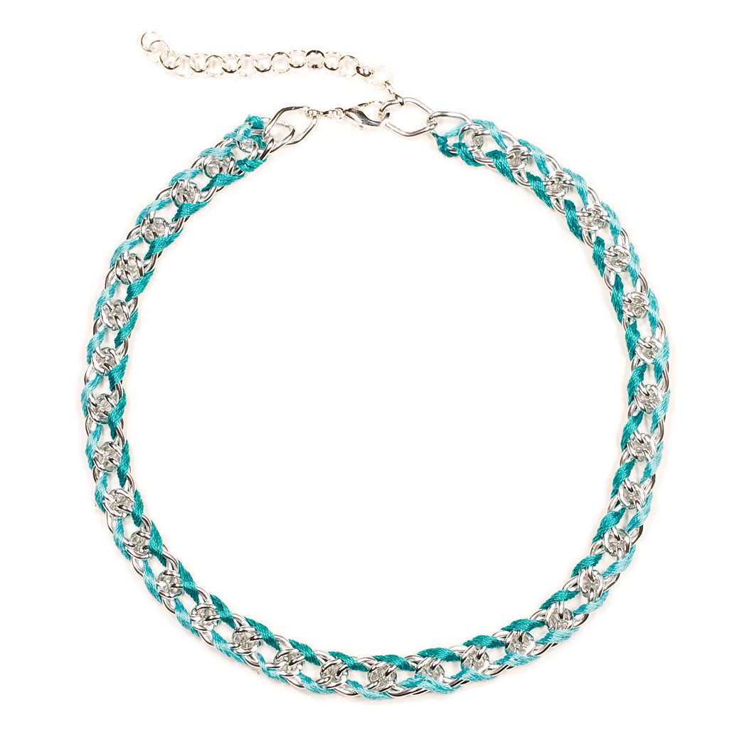 Rokel Necklace in Seafoam and Silver
