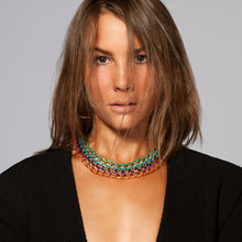 Load image into Gallery viewer, Rokel Necklace in Azure and Silver