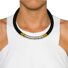 Load image into Gallery viewer, Kasai Necklace in Midnight Silver and Gold