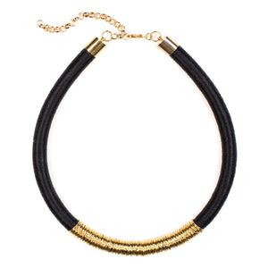 Kasai Necklace in Midnight and Gold