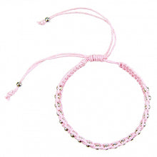 Load image into Gallery viewer, Macrame Bracelet in Powder Pink and Silver