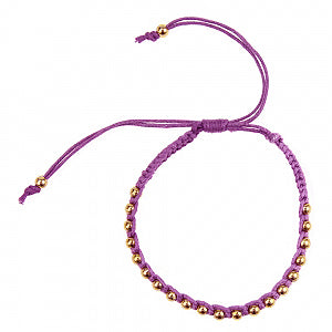 Macrame Bracelet in Purple and Gold