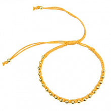 Load image into Gallery viewer, Macrame Bracelet in Sunflower Yellow and Gold