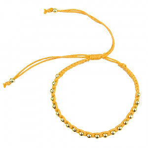 Macrame Bracelet in Sunflower Yellow and Gold