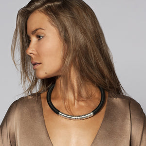 Kasai Necklace in Midnight and Silver
