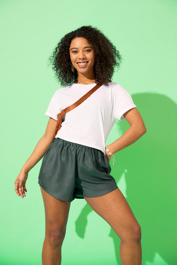 paigh - Anthrazitfarbene Damen Shorts