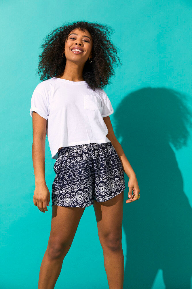 Ozean Labyrinth Damen Shorts - paigh - fair & gemütlich