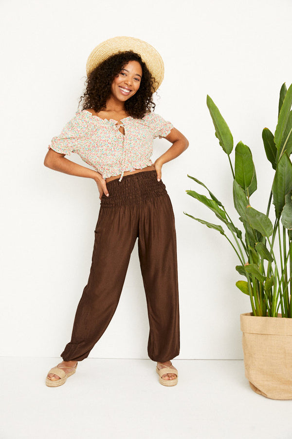 Harem Pants Brown