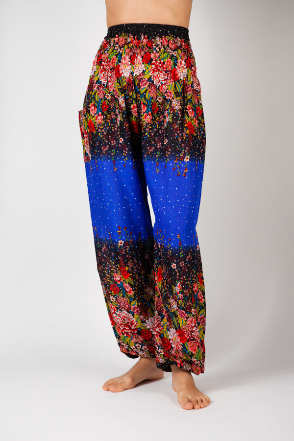 Harem Pants Blue Flower Dream