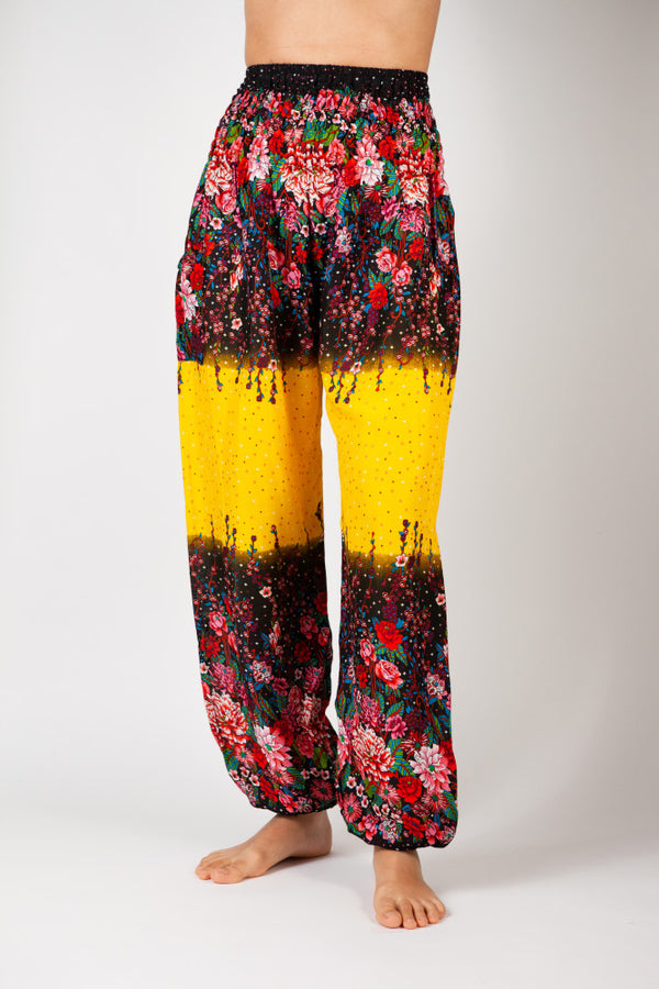 Harem Pants Yellow Flower Dream