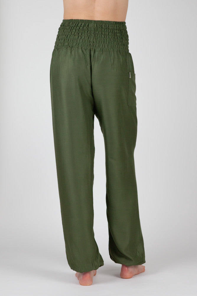Harem Pants Olive Long Version