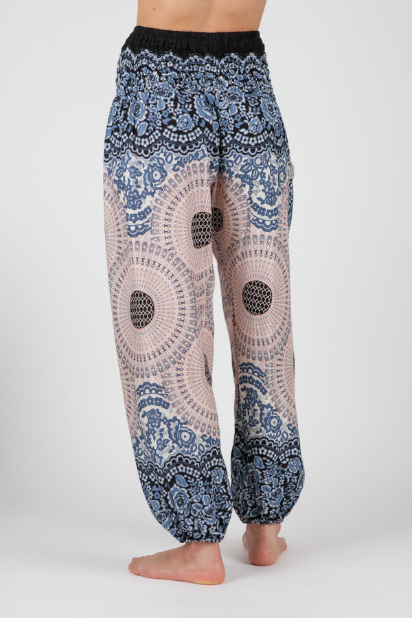 Harem Pants Aquarelle Mandala Short Version
