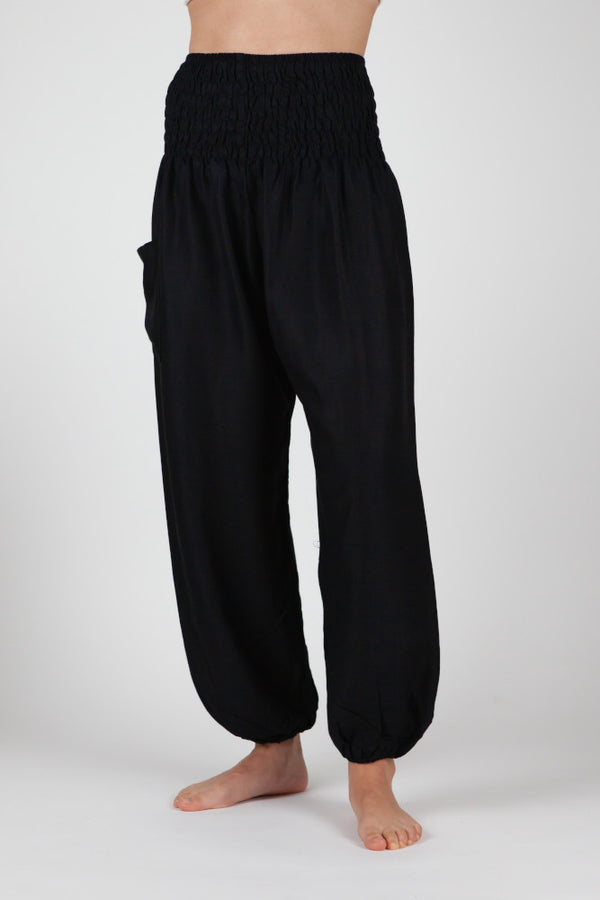 Harem Pants Black Short Version