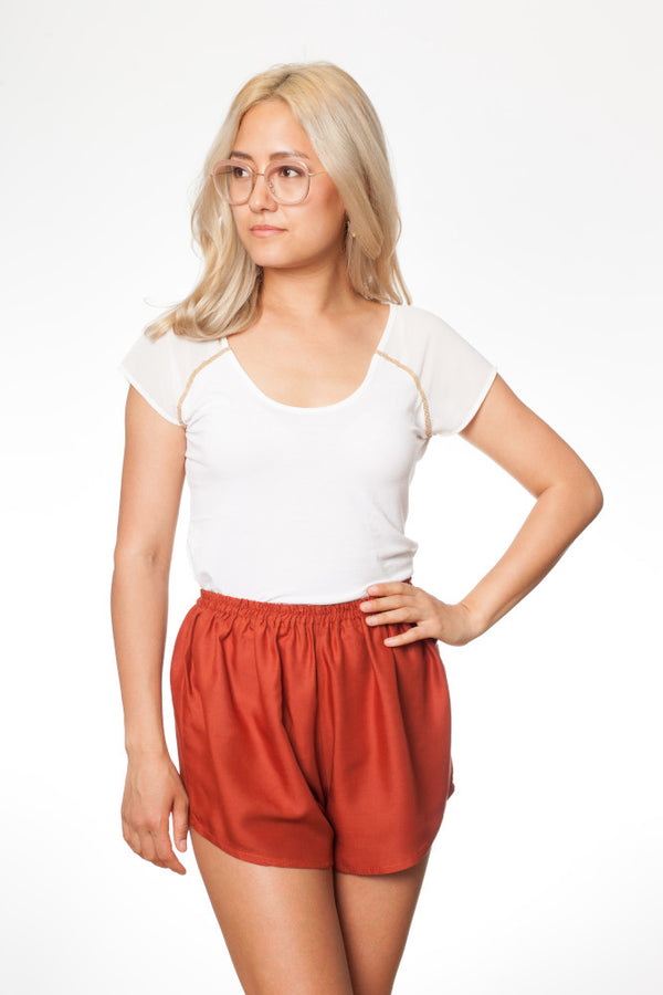 Orange Damen Shorts - paigh