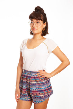 Lila Bambus Shorts - paigh