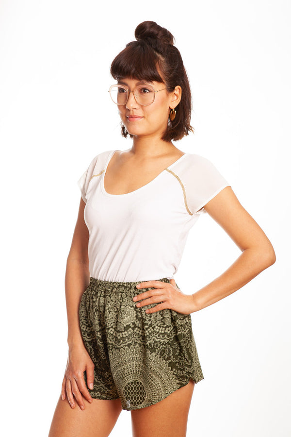 Grüne Mandala Shorts - paigh