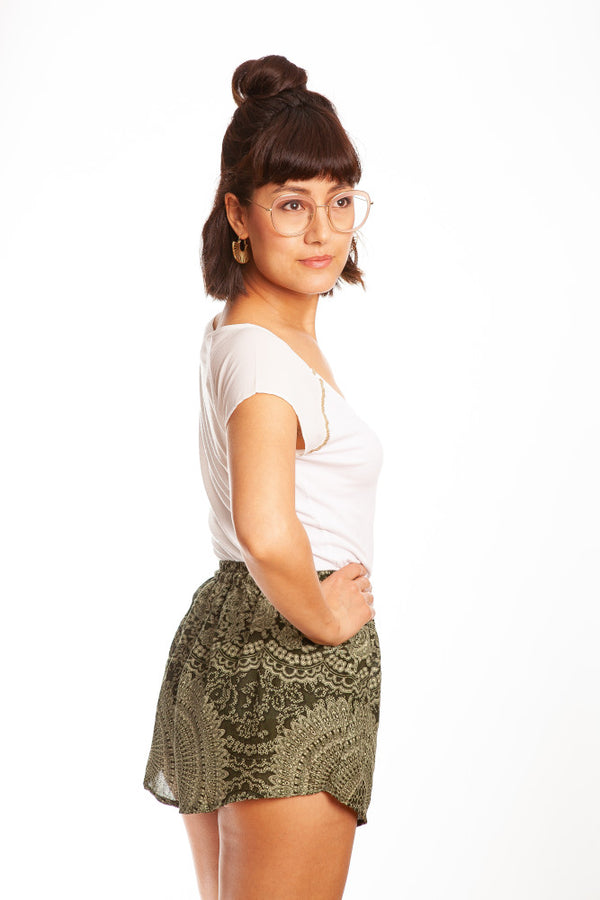 paigh - Grüne Mandala Shorts