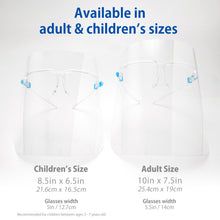Load image into Gallery viewer, Children's Face Shield with Glasses Frame (10, 25, 50, 100, 200 pack) - 1800shields