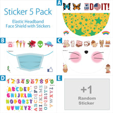 画像をギャラリービューアにロードします、FREE Decals when you purchase a pack of Elastic Headband Face Shields - 1800shields