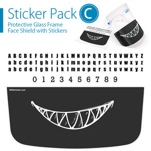 FREE Decals when you purchase a pack of Face Shields with Glasses Frame. - 1800shields