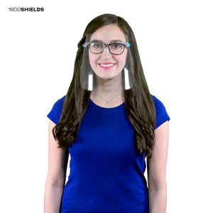 Stylish Face Shield with Glasses Frame - BUY 1 GET 1 DONATION program - 1800shields