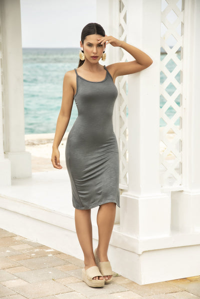 beach dress, MP4639 - Midi Sun Dress - Lavender's Dream