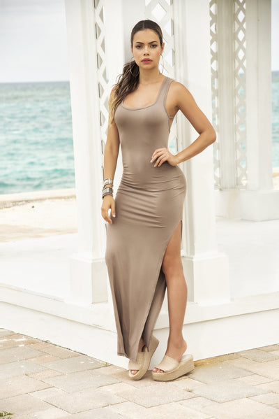 beach dress, MP4641 - Long Dress - Lavender's Dream