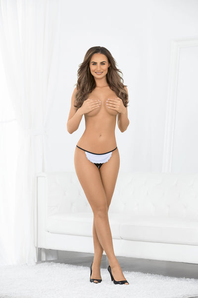 bedroom costume, ES61015 - Crotchless Maid Panty - Lavender's Dream