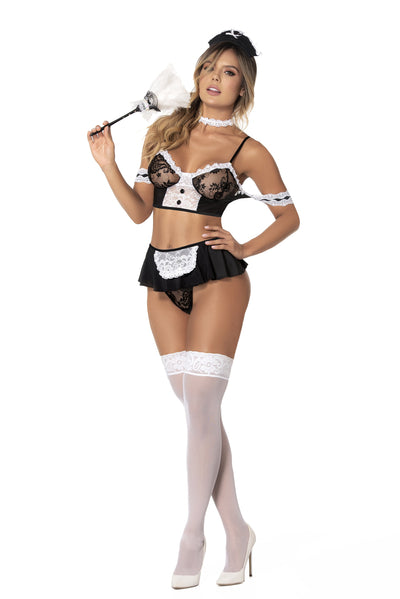 bedroom costume, MP6406 - French maid lingerie bedroom costume-Mapale