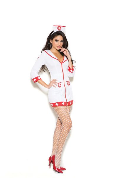 EM99001 - Cardiac Arrest Nurse - 2 pc. Sexy Women's Costume includes zip front dress and head piece - Lavender's Dream
