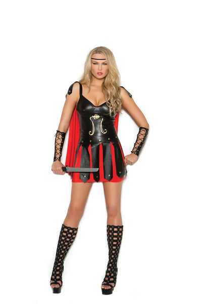 EM99060 - Sultry Spartan 2 pc. Women's Costume with dress & arm guards - Lavender's Dream