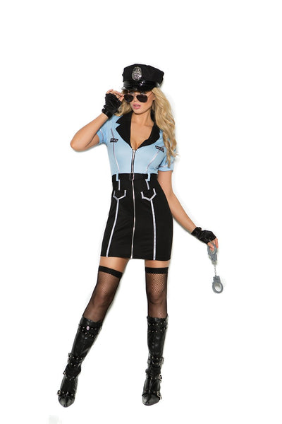 EM99069 - Officer Lawless - 4 pc. Sexy Women's Costume includes dress, hat, sunglasses and handcuffs - Lavender's Dream