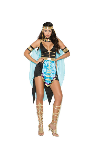 EM99073 - Queen Of The Nile - 5 pc. Sexy Women's Costume includes dress, belt, headband, neck piece and cape - Lavender's Dream