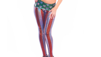 leggings, IR036 - Irish-American Flag Leggings - Lavender's Dream