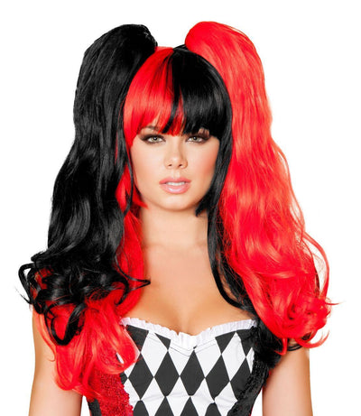 wig, RMWIG101 - Black & Red Wig - Lavender's Dream