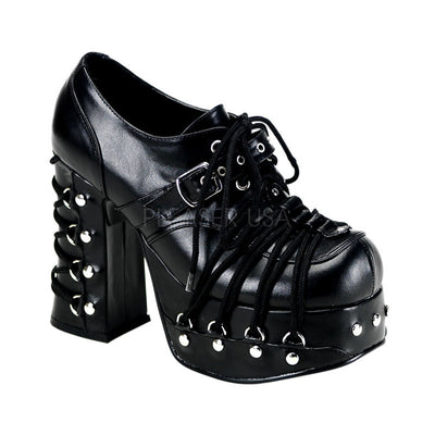 "CHARADE-35 - 4 1/2"" Heel 2"" Platform Lolita Corset Style Mary Jane's with studs - Lavender's Dream"