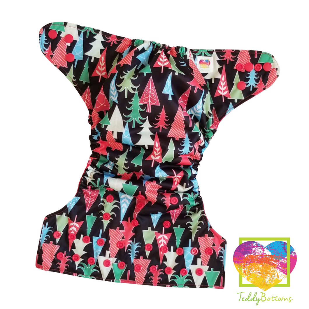 Christmas Trees OS Pocket Cloth Diaper