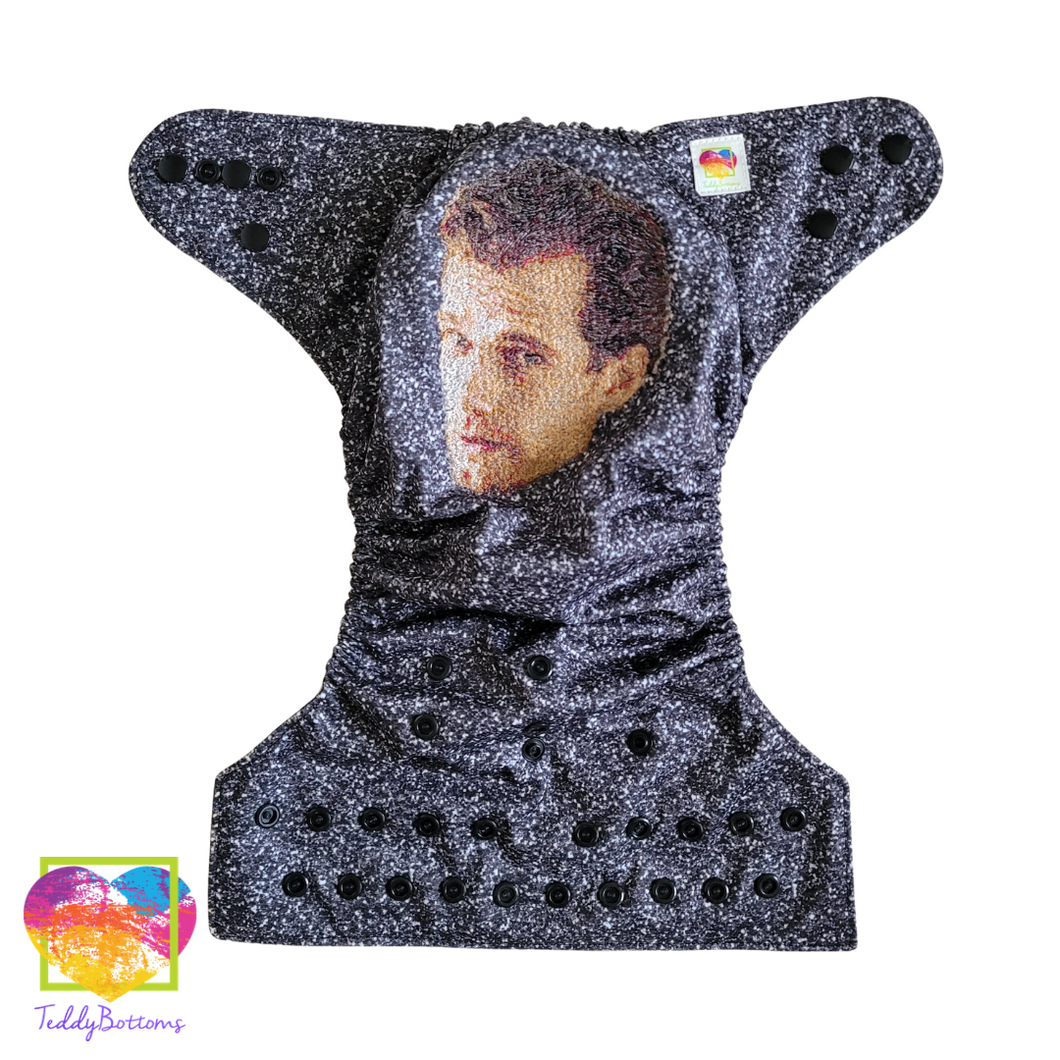 Henry Cavill OS Embroidered Cloth Pocket Diaper