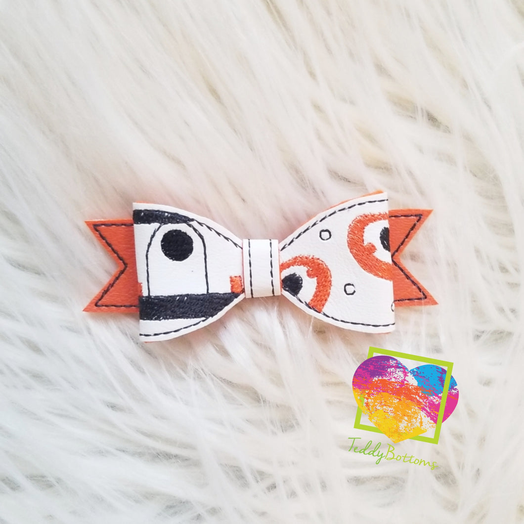 BB8 Embroidered Bow