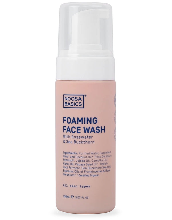 Foaming Face Wash Rosewater + Sea Buckthorn