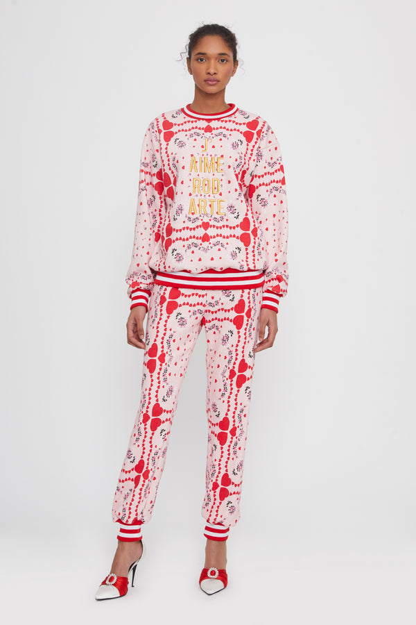 J'aime Rodarte Embroidered Sweatshirt