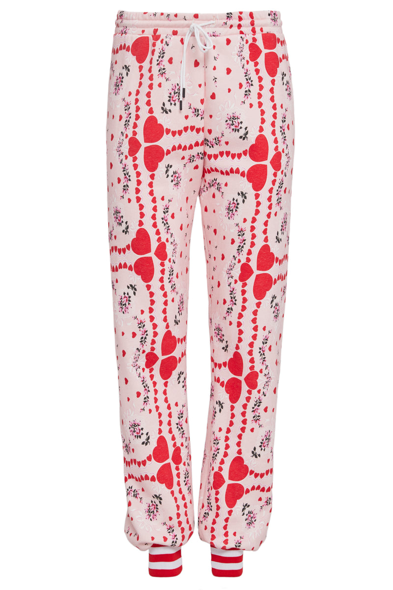 Heart and Floral Print Sweatpant