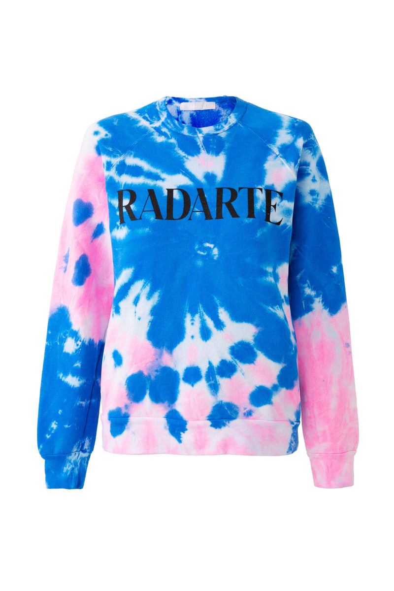Radarte x Virgil Normal Logo Tie Dye Sweatshirt